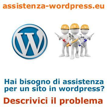 descrizione problema wordpress